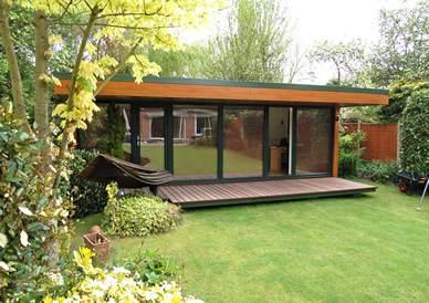 Garden rooms garden offices timber garden rooms for Glass garden office