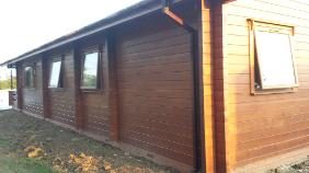 Solid timber four bedroom lodge
