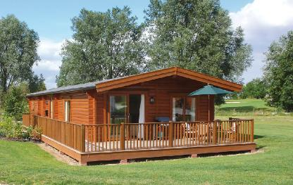 Four bed solid timber lodge Eco Lodge Cabins