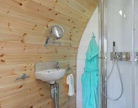 Camping pod shower room