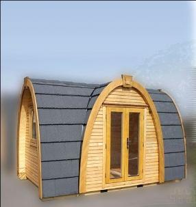 Camping pods for leisure parks