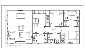 40' x 20' two bedroom layout